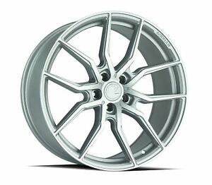 Set 4 New Aodhan Wheels Aff1 20x9 5x114 3 32 Gloss Silver Machined Face