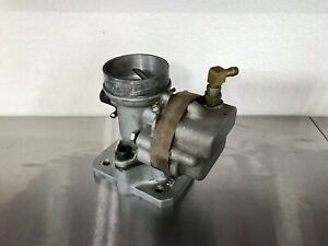 Very Rare 1950 s Fish M3 Aftermarket Hot Rod Carburetor Rat Rod Scta Trog Ford