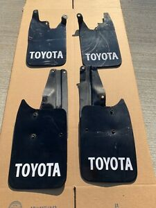 95 5 00 Toyota Tacoma 2wd Mud Flaps Guards Front Rear W Rear Brackets Oem
