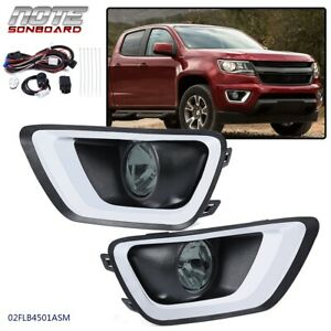 For 2015 2016 2017 2018 2019 Chevy Colorado Complete Bumper Driving Fog Lights