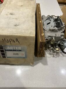 Nos Carter Avs Carburetor 4640s 1969 Dodge Plymouth 440 Auto Gtx Charger Coronet