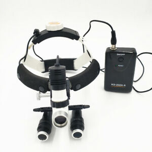 5 0x Dental Binocular Kepler Frame Loupes With 5w Surgical Led Headlight Lamp