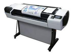 Hp Designjet T1300 Postscript Digital Color 44 Plotter Printer Cr651a Cr652a