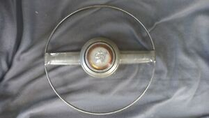 1951 1952 1953 Plymouth Steering Wheel Horn Ring W Center Cap Nice Oe Condition