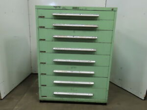 Industrial 8 Drawer Small Parts Tooling Storage Cabinet 45 w X 27 3 4 d X 61 t