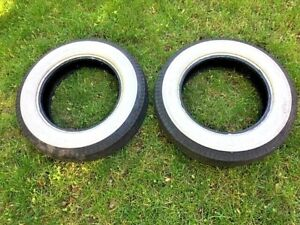 Firestone Deluxe Champion Tires 15 Inch Vw Bug Beetle Ghia Thing Whitewall Pair