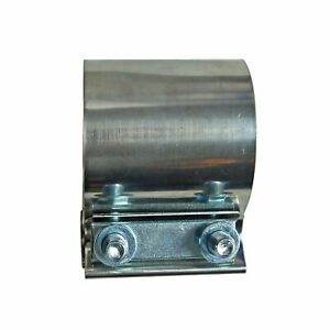 1pc 4 Stainless Steel Butt Joint Band Exhaust Clamp Sleeve Coupler T304