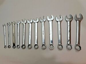 Snap On Usa Short Length 12 Pc Metric Combination Wrench Set 6 18mm Mm Oexm