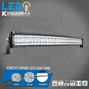 9d 42inch 560w Curved Led Light Bar Flood Spot Combo Off road Truck 4wd For Jeep