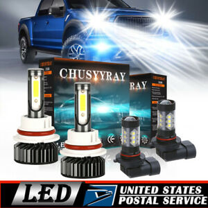 Blue 9007 white 9145 Combo Led Headlight Fog Lights Bulbs For Ford F 150 1999 03