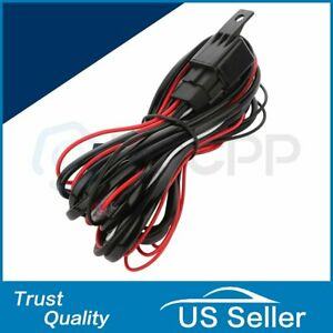 Universal Relay Wiring Harness Kit 40a 12v On Off Switch For Led Driving Light