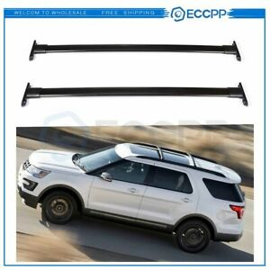 For 11 15 Ford Explorer Roof Rack Cross Bars Oe Style Pair Luggage Cargo Carrier