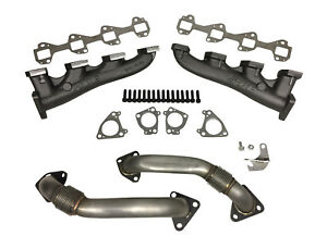 Ppe Race Exhaust Manifolds With Up Pipes For 2001 2017 Gm Diesel Duramax 6 6l