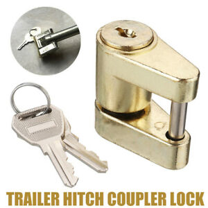 Trailer Coupler Latch Lock Safety Pin Hitch Receiver Anti Theft Towing Hauling