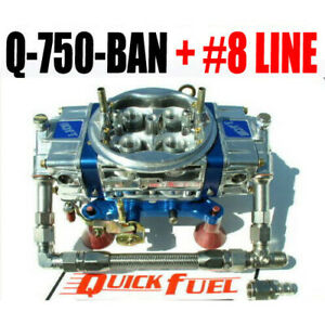 Quick Fuel Q 750 ban 750 Annular Mech Gas Blow Thru Blue Color Line 34 8000 ss