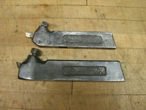 2 Vintage Armstrong Straight Shank Tool Holders
