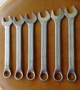 Hazet Tools 6 Piece Metric Combination Wrench Set 608 17mm 22mm