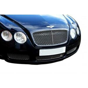 Bentley Continental Gt Lower Grill Set Silver Finish 2003 To 2007