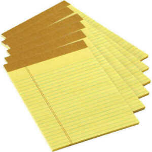 Tops Junior Legal Pads 5 X 8 Inches 50 Sheets Each Canary Yellow Pack Of 24