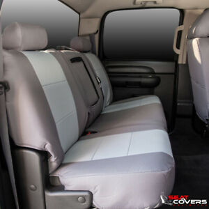 Custom Fit Canvas Front 60 40 Bench Seat Covers For The 2005 2006 Toyota Tundra