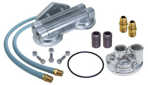 Trans Dapt 1222 Kit Remote Oil Filter Double Filter For Chevy V8