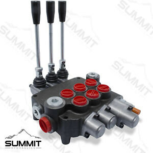 Monoblock Hydraulic Directional Control Valve 3 Spool W Single Float 21 Gpm