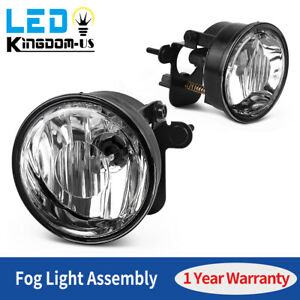 2pcs For 2004 2006 Chevy Suburban Tahoe Z71 Clear Fog Light Lamps W bulbs L