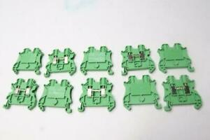 10 pack Eaton Cutler Hammer Ut 4 pe Din Rail Mount Terminal Blocks Grounded