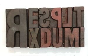 Letterpress Letter Wood Type Printers Block Lot Of 10 Typography eb 124