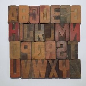 Letterpress Letter Wood Type Printers Block a To Z Typography eb 72