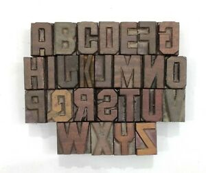 Letterpress Letter Wood Type Printers Block a To Z Typography eb 116