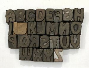 Letterpress Letter Wood Type Printers Block a To Z Typography eb 75