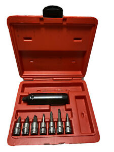 Snap On Tools Pit120 3 8 Drive Impact Driver Set With Sockets In Case Used Ones