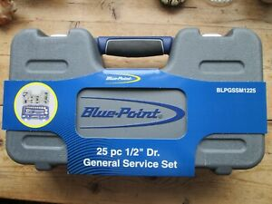 Blue Point 25 Piece 1 2 Drive General Service Set With Case New Premium Tools