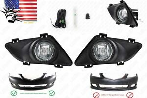 Clear Lens Front Bumper Fog Driving Light For 2003 2005 Mazda 6 W Switch Bulbs
