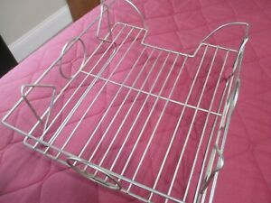 Vintage Metal In out Basket Desk Organizer Document And Letter Tray