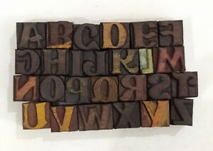 Letterpress Letter Wood Type Printers Block a To Z Typography eb 170