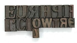Letterpress Letter Wood Type Printers Block lot Of 16 Typography eb 121