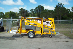 Haulotte 3522a 43 Towable Boom Lift 20 Outreach former Bil jax Still Made Usa