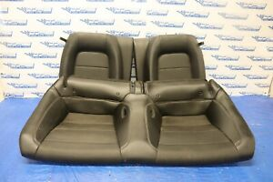 2018 Ford Mustang Gt 5 0 Coyote V8 Oem Black Leather Rear Seat wear 1238