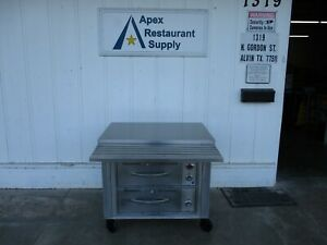 All Stainless Table W 2 Well Drawer Warmers On Casters 5115