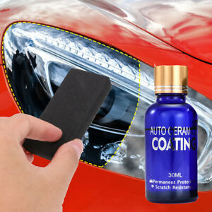 Car Headlight Lens Restoration System Repair Kit Plastic Light Polish Cleaner Us