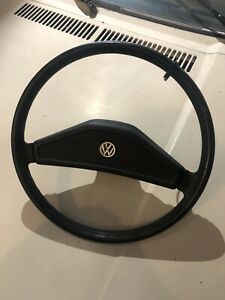 Vw Rabbit Caddy Cabriolet Jetta Mk1 Early Steering Wheel Black