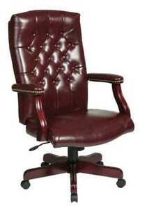 Office Star Tex232 jt4 Executive Chair vinyl brown 17 Seat Ht