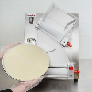 Two Stage Pizza Dough Roller Sheeter Double Roller Diameter 12 Rolling Machine