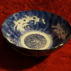 Old Rare Blue And White Chinese Porcelain Bowl 7 25 D X 3 25 T