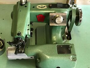 Us Blind Stitch Machine Corp 99 pb Industrial Sewing Machine With Motor table
