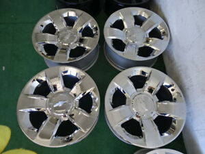 4 Chevrolet Suburban Tahoe Silverado 1500 Chrome Oem Factory 20 Wheels Rims