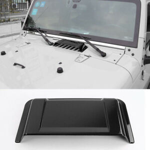 Black Cowl Heater Air Induction Vent Ram Hood Scoop For 2007 2018 Jeep Wrangler