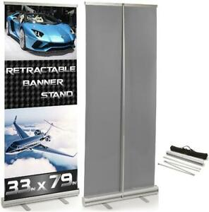 4 Pack 33 X 79 Pop Up Roll Up Retractable Banner Stand Trade Show Display Sign
